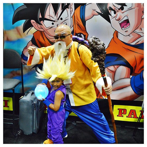 San Diego Comic-Con 2015 Cosplay - DragonBall Z Master Roshi and Gohan