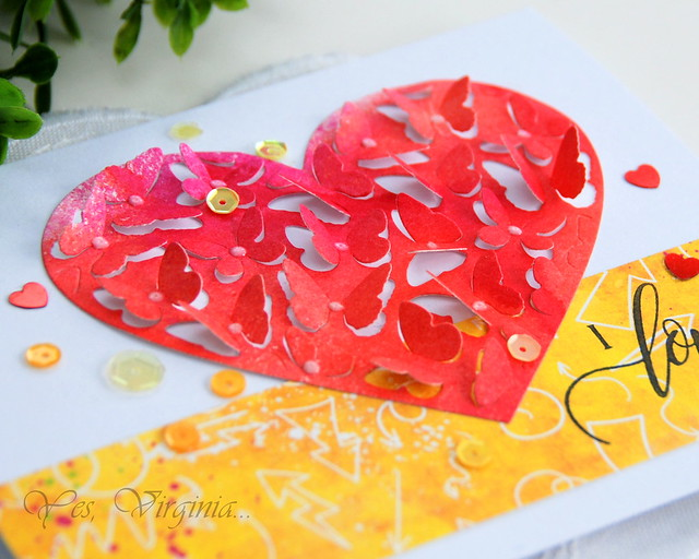 Butterfly Butterfly Heart Pop Die (Penny Black)