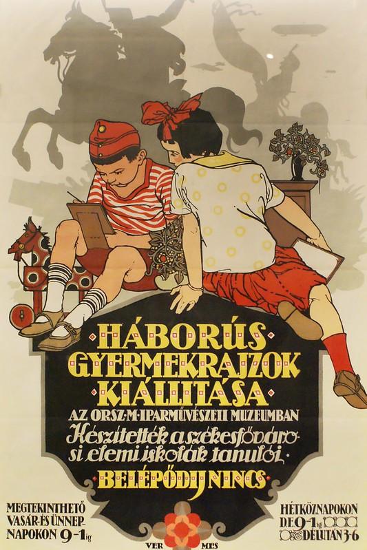 Affiche hongroise d'entre deux guerre.