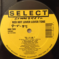 RED HOT LOVER LOVER TONE:PUSSY'S ALL THAT(LABEL SIDE-B)
