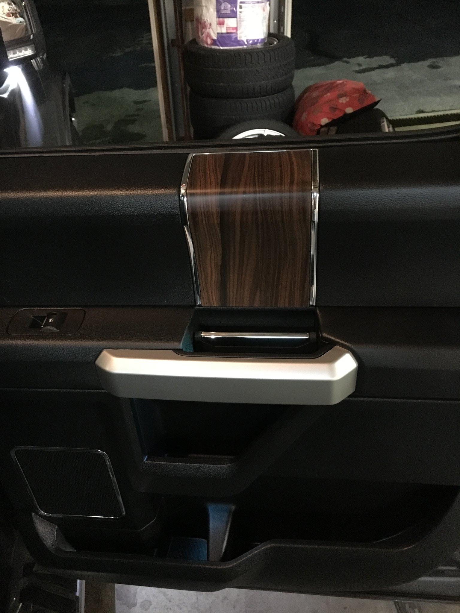 Carbon Fiber Vinyl Over Wood Grain Ford F150 Forum