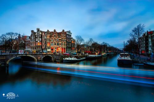 Papiermolensluis @Amsterdam yesterday #bluehour