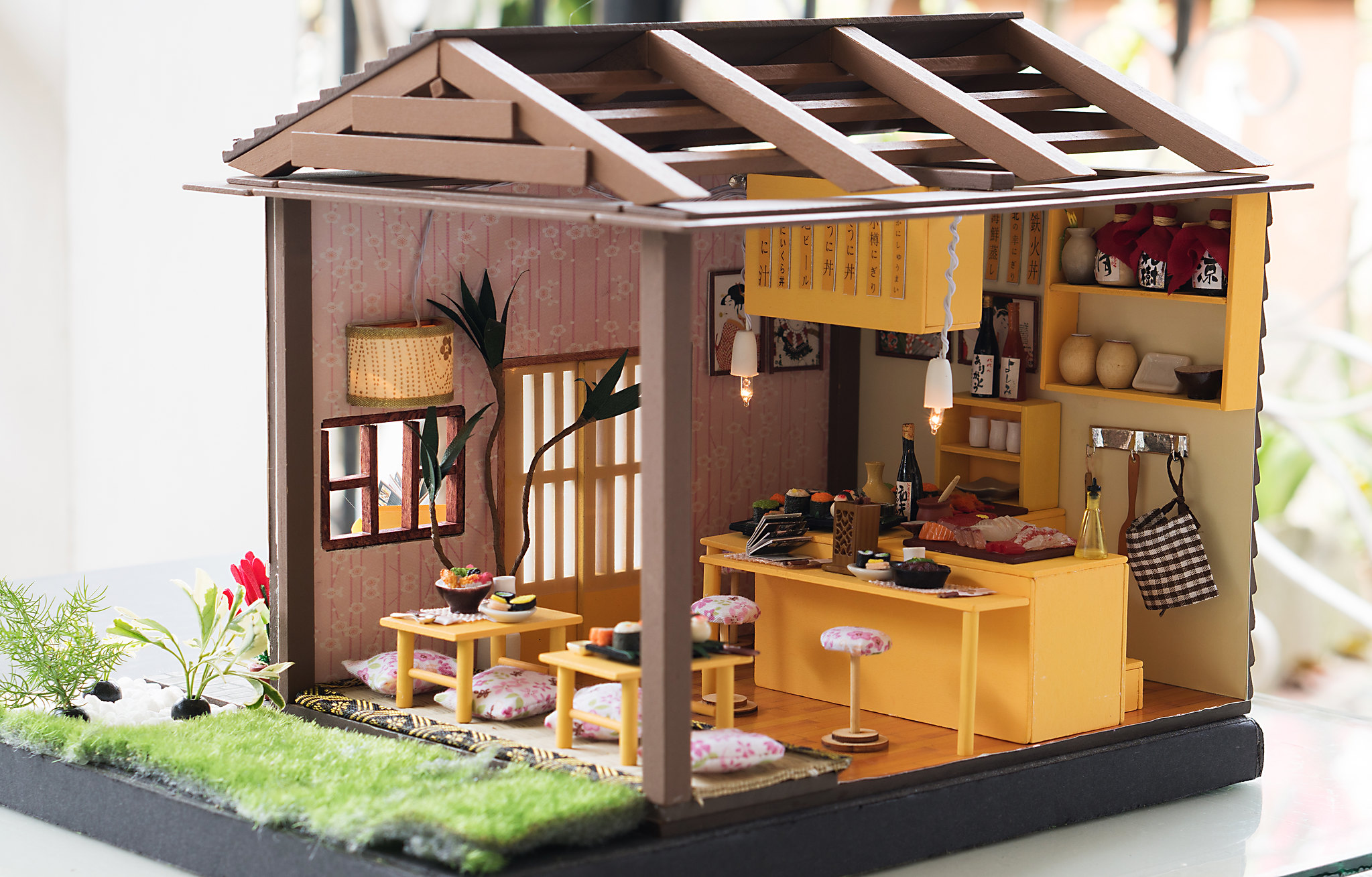 Diy Miniature Dollhouse Kit Sushi Bar Restaurant Kixkillradio