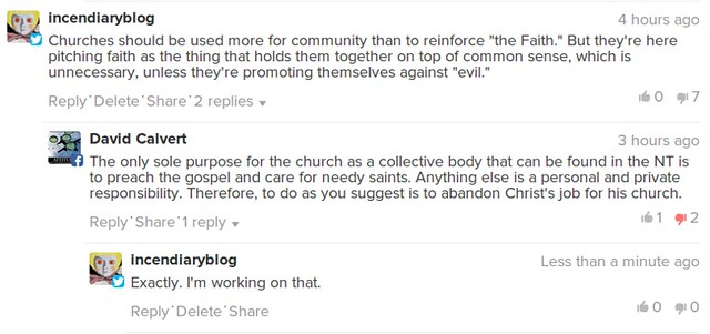 Comments About The Community And The Church