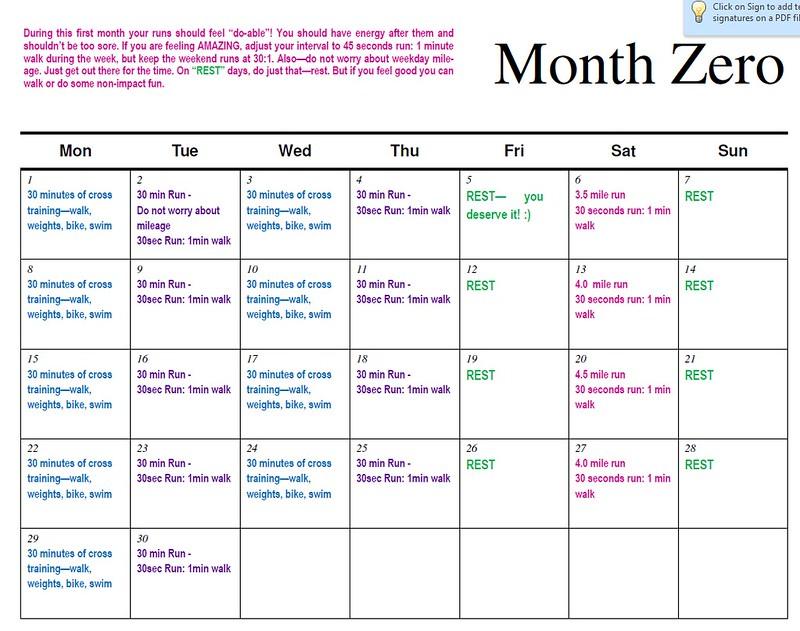month zero