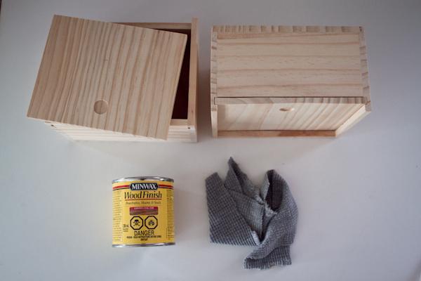 wooden gift box: materials