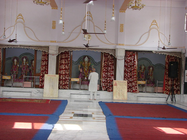 A front inner view of main Shri Ganesh temple
