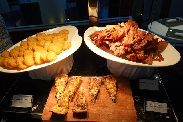 Bacon, Hash Browns & Quiche. Part of the Semi-Buffet Breakfast Spread at Sky on 57.