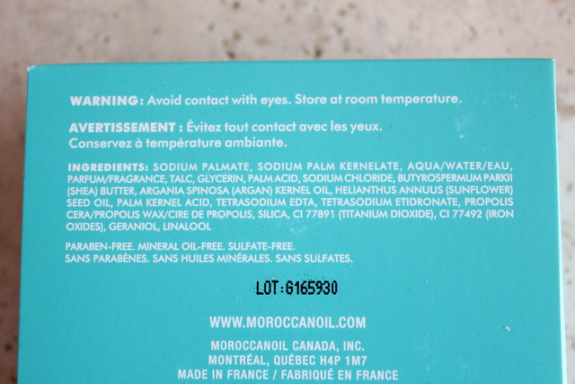Moroccanoil Cleansing Bar fleur de rose ingredients