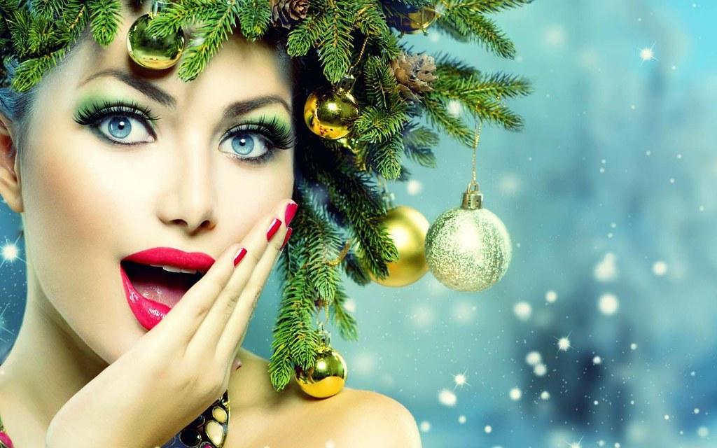 5341b65de ... StylishHDwallpapers Beautiful Stunning Christmas Girl Desktop Wallpaper