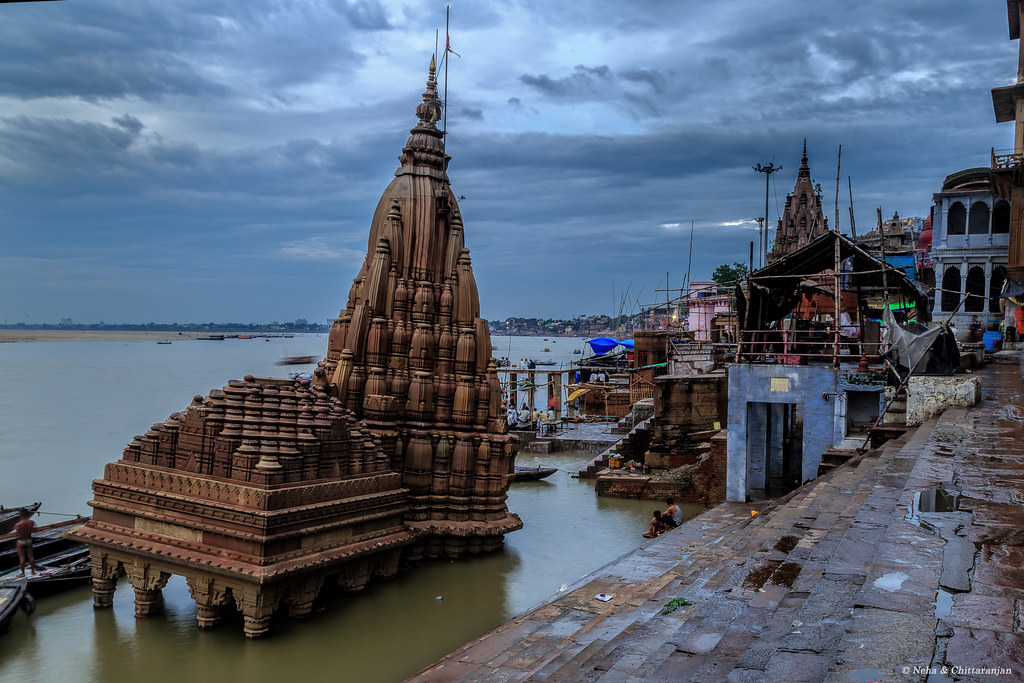 Image result for submerged shiva temple