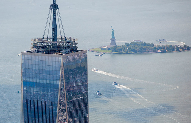 One World Trade and the Statue of Liberty