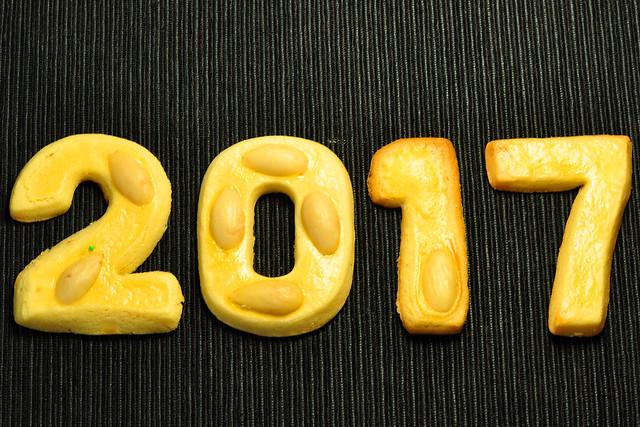 Frohes neues Jahr: Butterplätzchen 2017