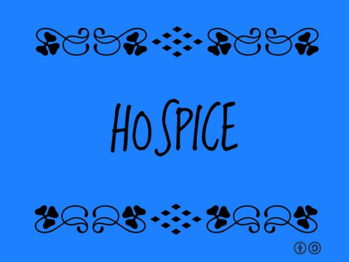 Hospice = Type of care and philosophy of care that focuses on the palliation of the chronically ill and attending to their emotional and spiritual needs.