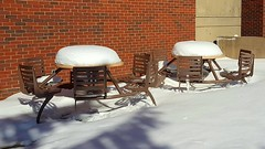 Snowy tables