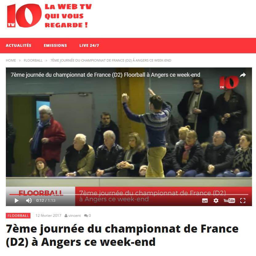 Article de TV10 Angers : les caennais ont aussi mis l'ambiance !