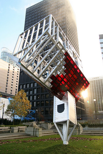 dennis oppenheim device to root out Dennis oppenheim is a conceptual sculptor whose early work pioneered land art ,  in device to root out evil, a signature public work from 1997, a country.