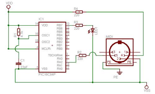 MIDI circuit board schematic | Josh Harle | Flickr