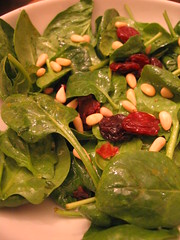 spinach salad with meyer lemon dressing | by tofu666