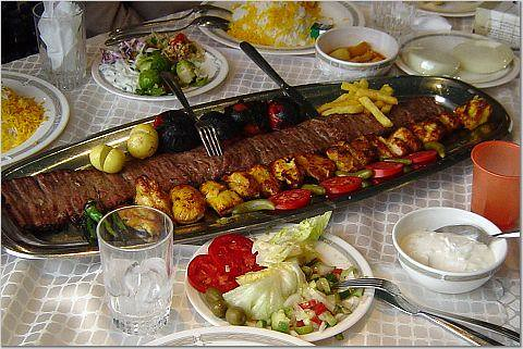 Kabob at alborz restaurant tehran kfravon flickr for Alborz persian cuisine