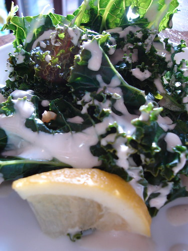Kale with Tahini Lemon Sauce | by ilovemypit