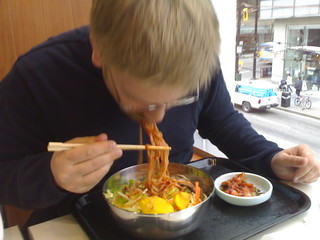 Cold, spicy noodles - Korean Food at HMart on Seymour and Robson - Roland in Vancouver 1262.jpg | by roland