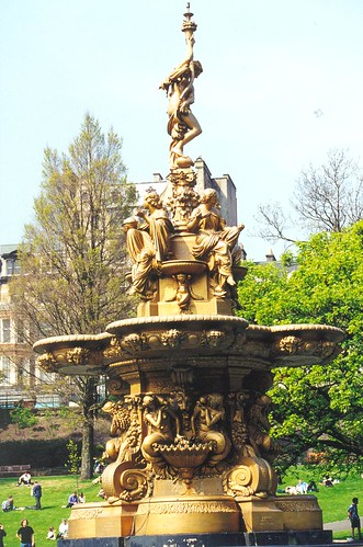 Fountain in Princes St Gardens | by winter_creature