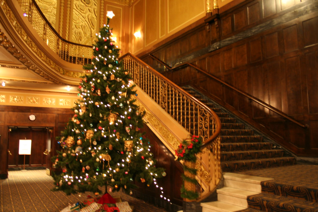 Michigan Theater Christmas Tree Staircase Without The