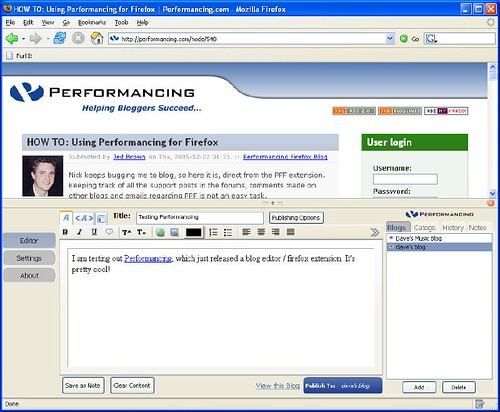 performancing blog editor | by David Lee King