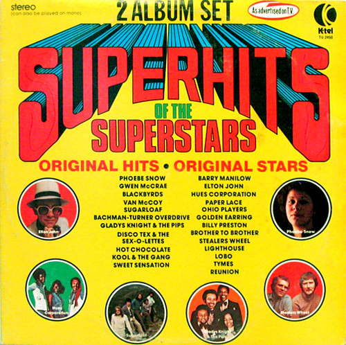 Superhits Of The Superstars K Tel 1975 Record One