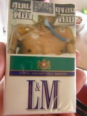 Lung cancer man on cigarette