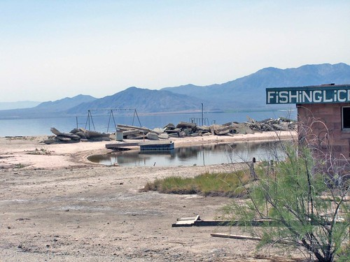 Salton sea fishing gone desolate deserted junk pile on for Salton sea fishing report