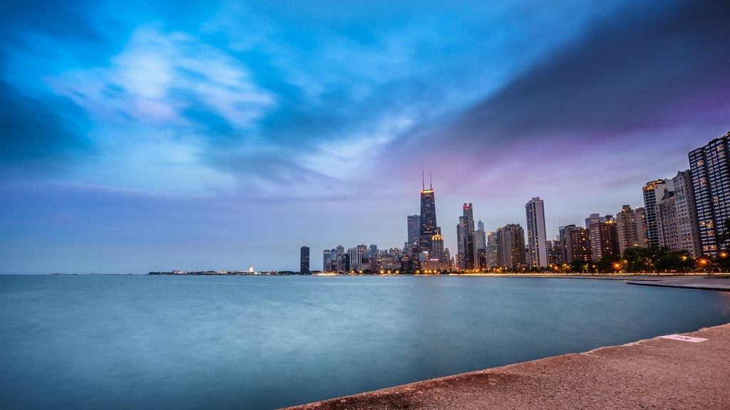 Infinity Pool Chicago chicago skyline at sunset united states cityscape phot flickr