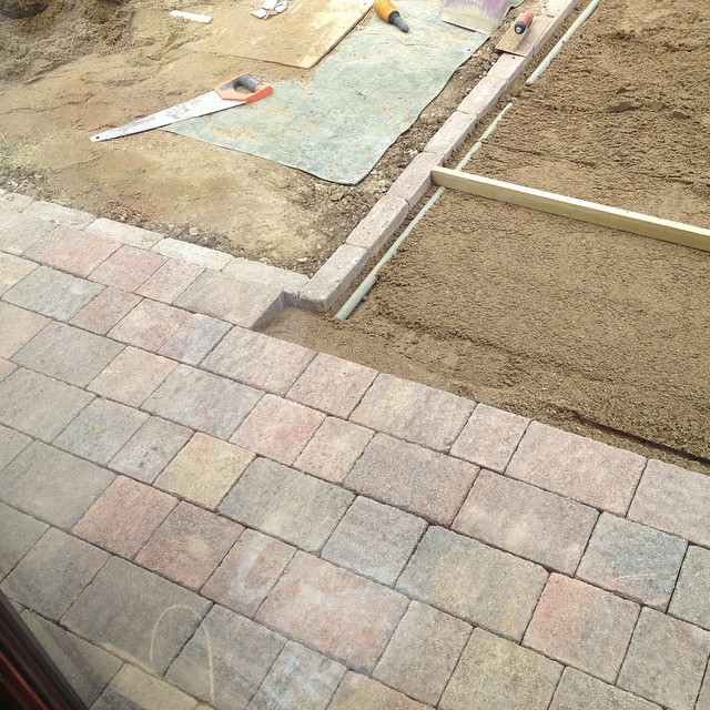 First blocks are laid