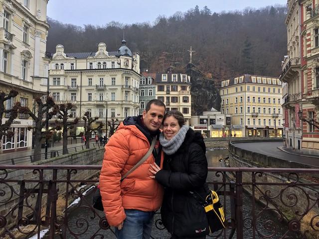 Sele y Rebeca en Karlovy Vary (República Checa)