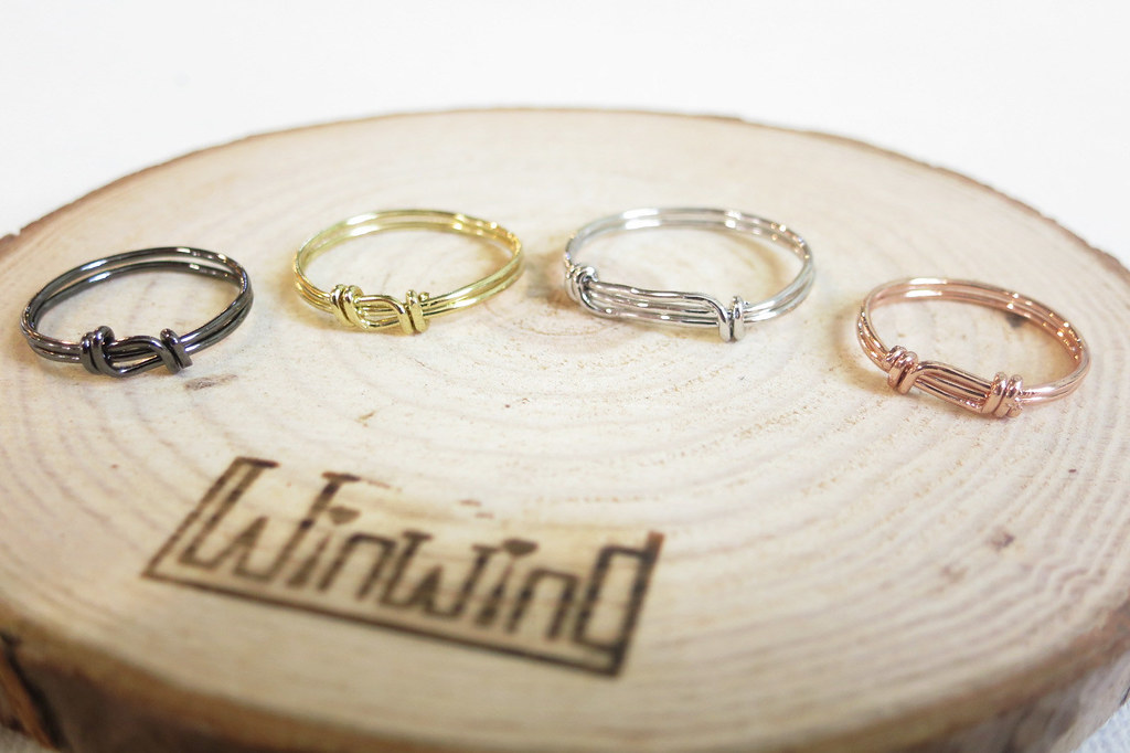 Winwing wire braided rings - [double knot ring]. Handmade ...