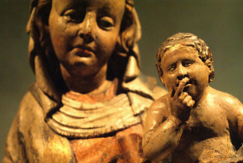 Jésus à l'étranger visage d'adulte.