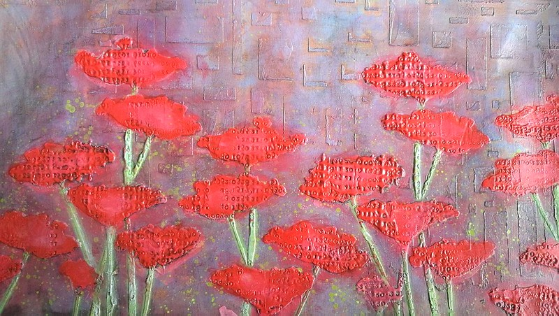 processing poppies