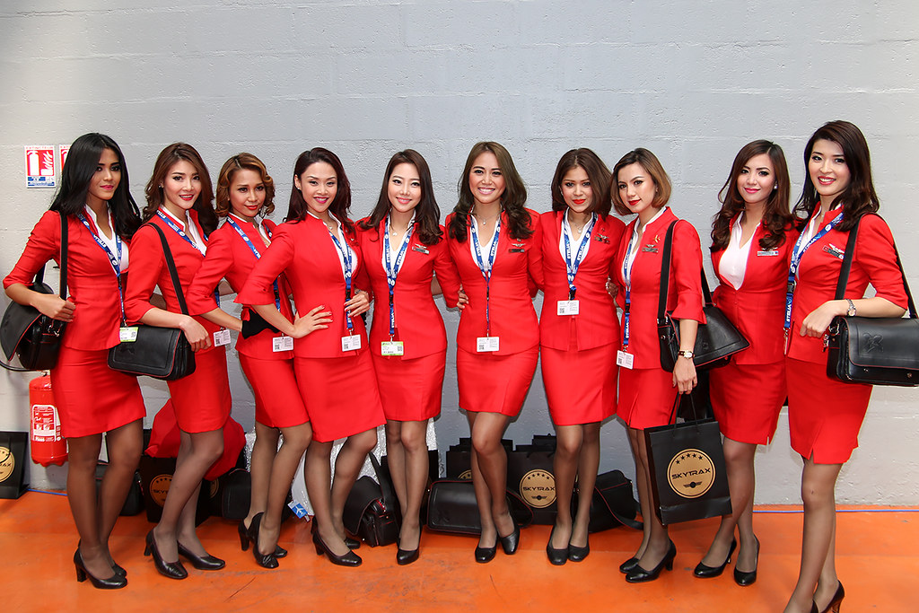 Stewardesses Airasia X Paris Air Show 2015 Totoro