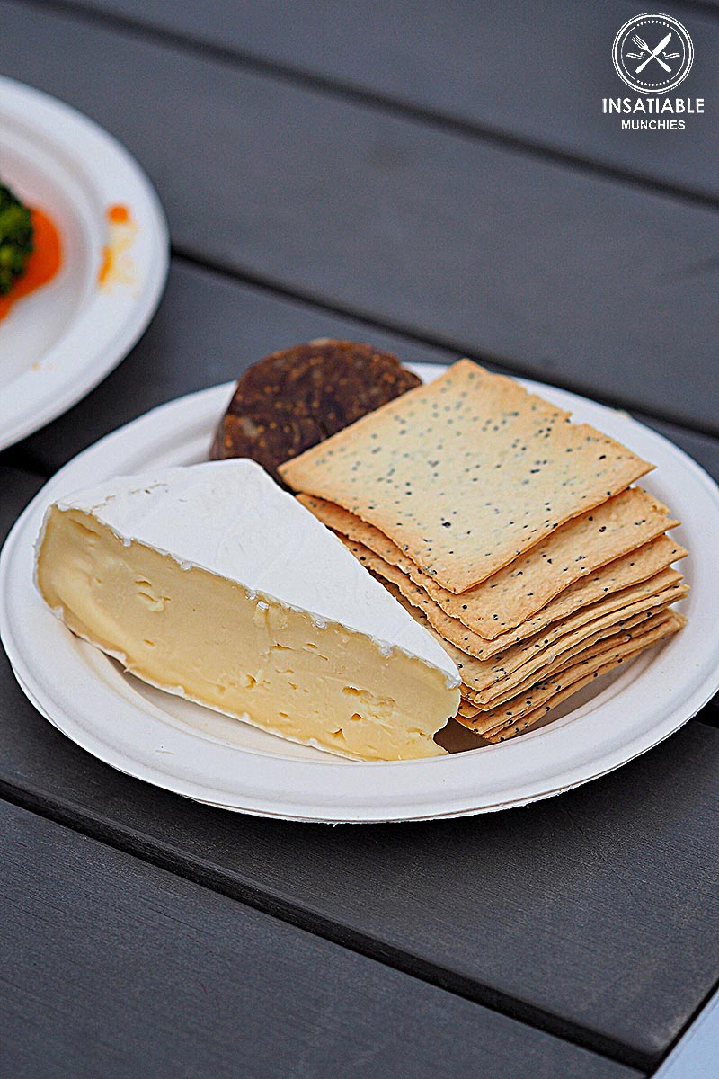 Review of Lovedale Long Lunch: Hunter Valley Brie with lavosh and fig, date and walnut roll from The Deck Cafe, Lovedale
