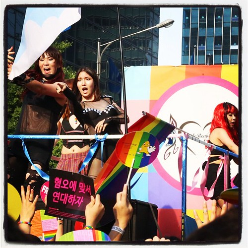 Although this battle started over the perceived threat of gays getting rights, especially as the tide started to turn in the States from a few years ago, which turned Korean Protestants into raving lunatics over this issue and allowed them some thing meat