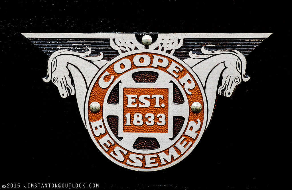 Used Car Engines >> Cooper Bessemer | A Cooper Bessemer logo is bolted to an Eri… | Flickr