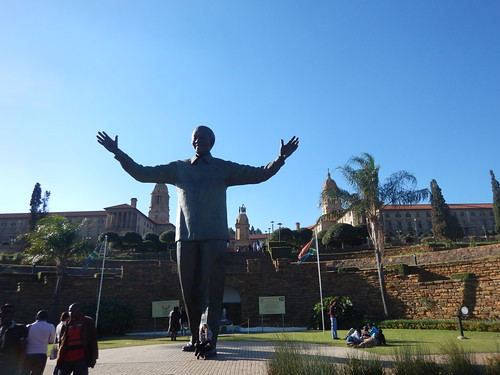 Nelson Mandela welcomes you to the Union Buildings