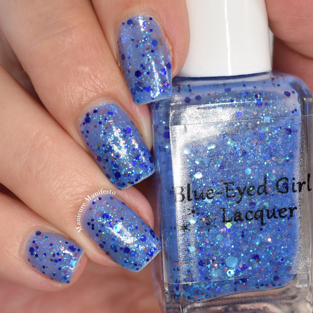 Blue-Eyed Girl Lacquer Snowfall At Dusk