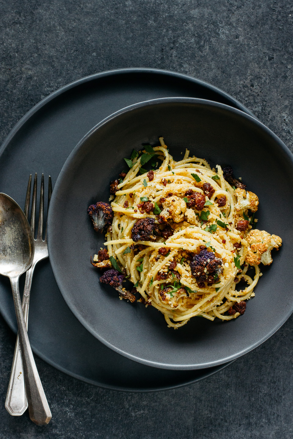Roasted Cauliflower Spaghetti