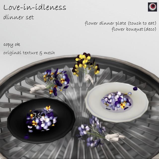 *NAMINOKE*Love-in-idleness dinner set