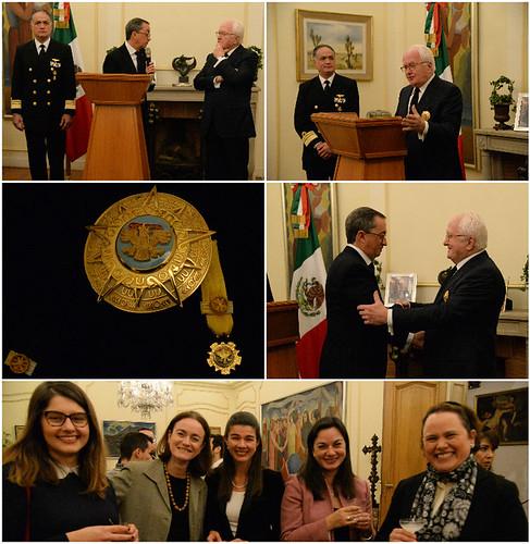 Impone el Embajador de México la Orden del Aguila Azteca a Michel Vauzelle