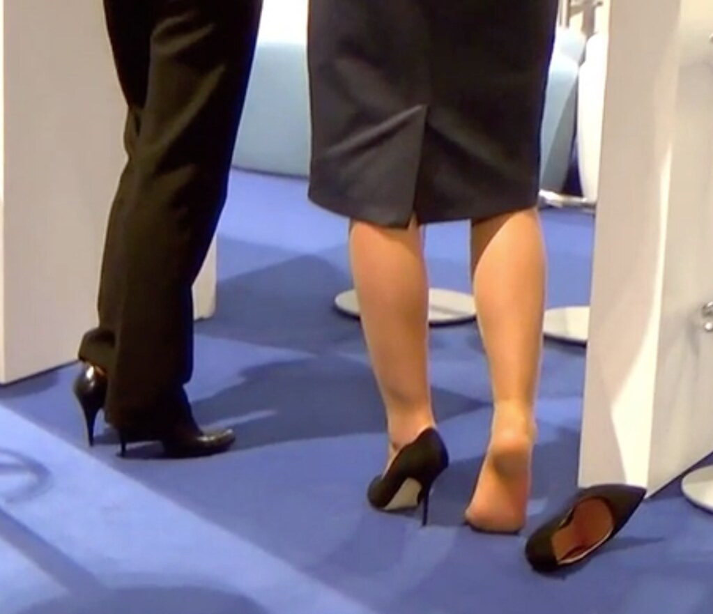 Candid nylon pantyhose feet amp soles under chair 4