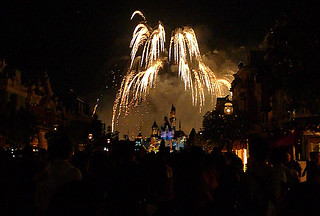 Disneyland Hongkong - Sleeping Beauty castle fireworks