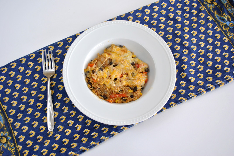 Mexican Quinoa Bake-@akeeleywhite-Head to Toe Chic
